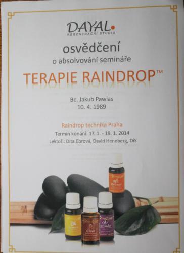 Raindrop a práce s esenciálními oleji terapeutické kvality Young Living