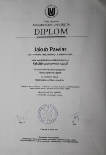 VŠ MU Diplom - Regenerace a výživa ve sportu
